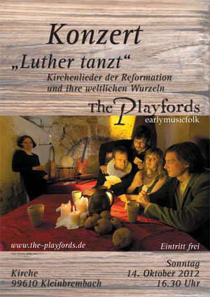 Plakat Luther tanzt