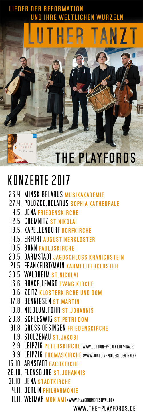 The Playfords Luther Tour 2017